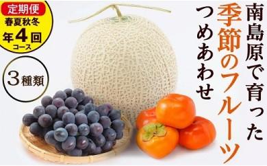 春夏秋冬 旬のフルーツセット定期便 年4回コース(3か月に1回発送) 果物の食べ比べセット