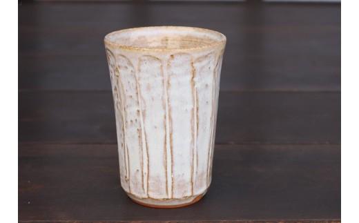 008-2101 宝殿焼 柿の木窯 ビアカップ 1個