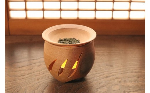 014-2101 宝殿焼 柿の木窯 茶香炉