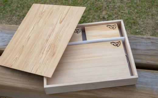 【家具職人が天然木で作りあげた】銀杏のまな板ギフトセット