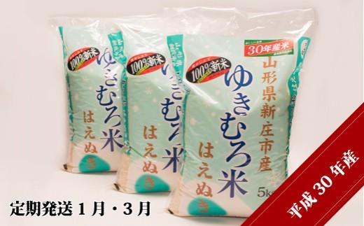 D3004-01 【平成30年産米】JAの新庄産「はえぬき」精米【定期発送1月・3月】