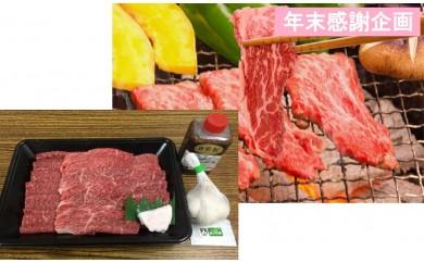 [№5761-0242]年末企画 田子牛焼肉・にんにくセット(肉360g・たれ・ニンニク1ヶ)