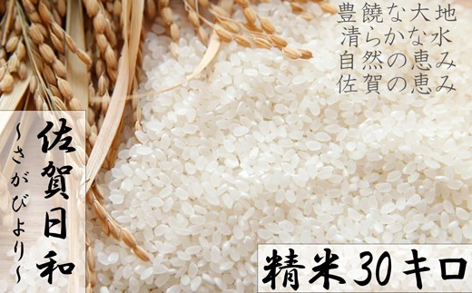 D577 【H30年産米】みやき町産『さがびより(精米30kg)』8年連続特A受賞
