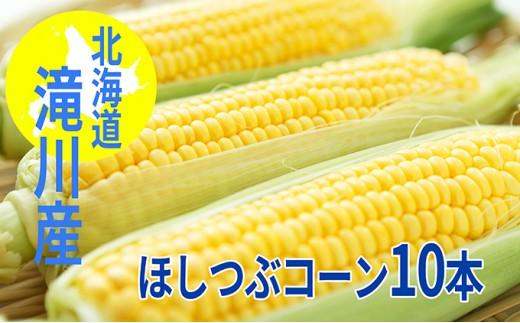 [№5641-0600]北海道滝川産 とうもろこし新品種「ほしつぶコーン」10本(Mサイズ)