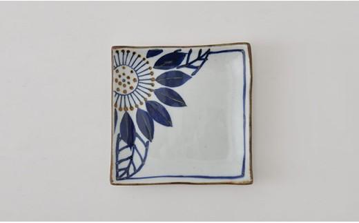 PA77 【波佐見焼】藍の器ブルーメ14cmプレート5枚セット【福田陶器店】-3