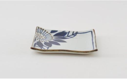 PA77 【波佐見焼】藍の器ブルーメ14cmプレート5枚セット【福田陶器店】-4