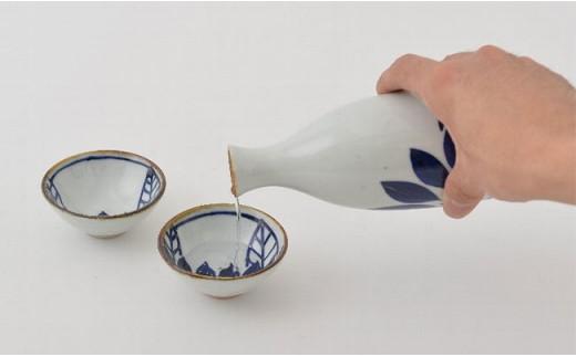 PA78 【波佐見焼】藍の器ごきげん晩酌セット(徳利1・盃2)【福田陶器店】-4