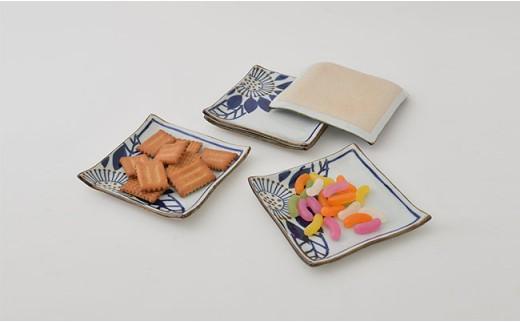 PA77 【波佐見焼】藍の器ブルーメ14cmプレート5枚セット【福田陶器店】-7