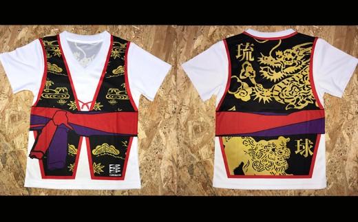 沖縄を愛する人の必須アイテム!子供用エイサー柄Tシャツ【ハッピ柄】