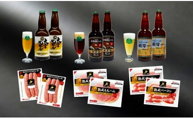 【1月お届け】大雪地ビールとニッポンハムおつまみセット