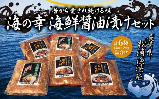 【A-041】海の幸 海鮮醤油漬けセット