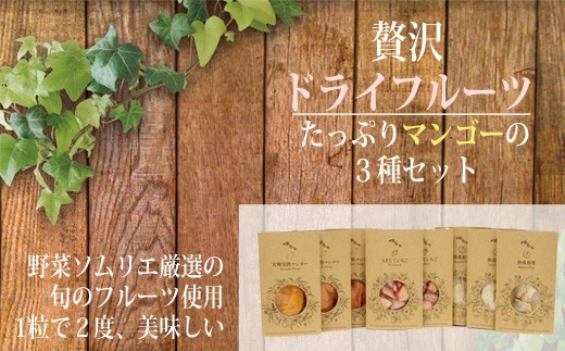 【づのファーム】たっぷりマンゴーと小林産ドライフルーツ3種セット 31-ZF05
