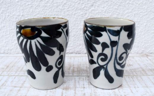 【やちむん市場】フリーカップ2個セット唐草紋呉須