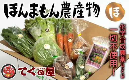 化学肥料等不使用の野菜とお米!てくの屋「ほんまもん農産物セット」A