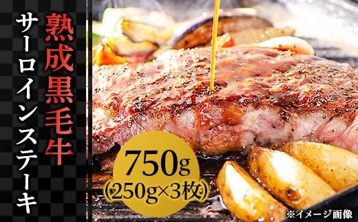 長岡産熟成黒毛牛サーロインステーキ(250g×3枚)