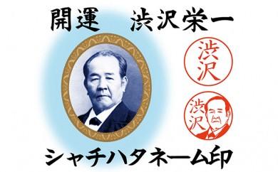[№5674-0375]開運 渋沢栄一 シャチハタネーム印