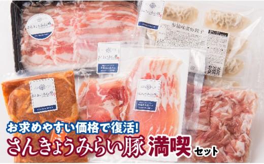 i010301Pさんきょうみらい豚満喫セット1月発送分(お楽しみの品付き)