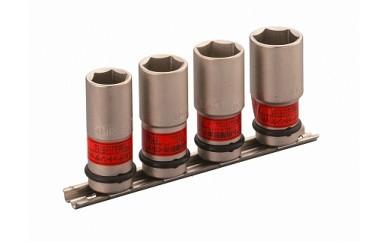 インパクト用薄形ホイルナットソケットセット(ホルダー付) HA404N