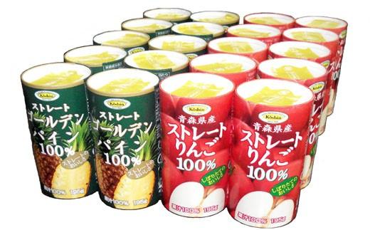 C-1 りんご&ゴールデンパイン100%ジュース カートカンギフト(20本入り)