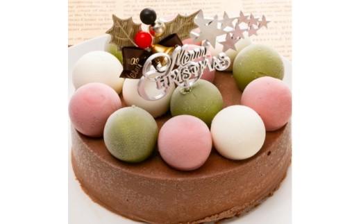 クリスマスのジェラートケーキ(チョコレート)