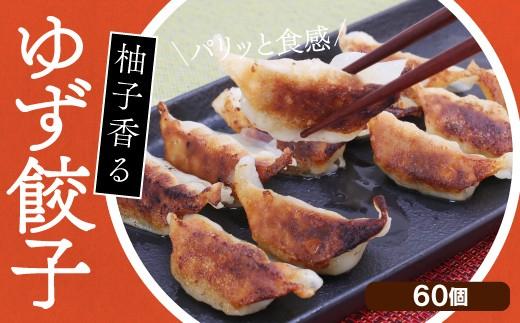 gyo001 ドカンと60個!!パリッと食感♪ゆず香る柚子餃子 寄付額5,000円