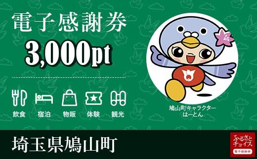 [№5721-0089]鳩山町  電子感謝券3,000pt