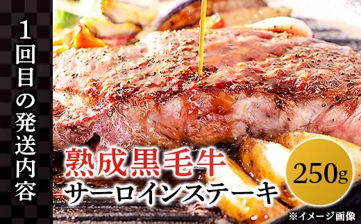 【1回目】熟成黒毛牛サーロインステーキ 250g