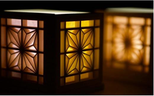 【優しい灯り】組子細工の和モダンランプ 30-0808