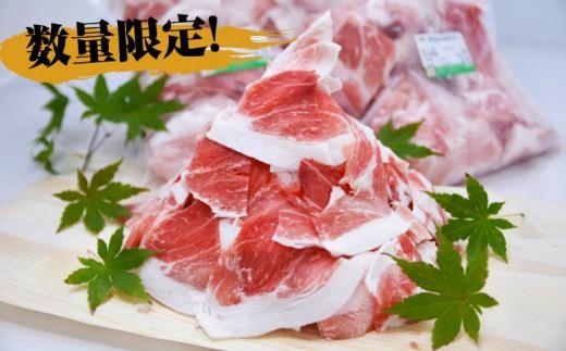 【鹿児島県産】黒豚 切り落とし 1.8kg (600g×3)
