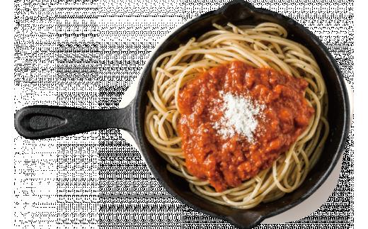 ボロネーゼの調理イメージ。※麺はつきません