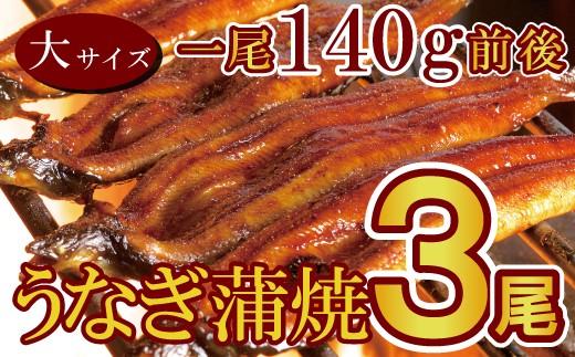 B-259 上峰うなぎ「柳屋」厳選 特上うなぎ蒲焼大サイズ 3本