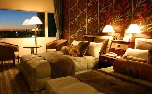 430 掛川グランドホテル ツインルーム朝食付ペア宿泊券深・蒸し茶ロールお土産付※1年の有効期限有