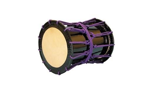 桶胴太鼓1.4尺(紫紐)【本体】面420㎜ 胴長500㎜