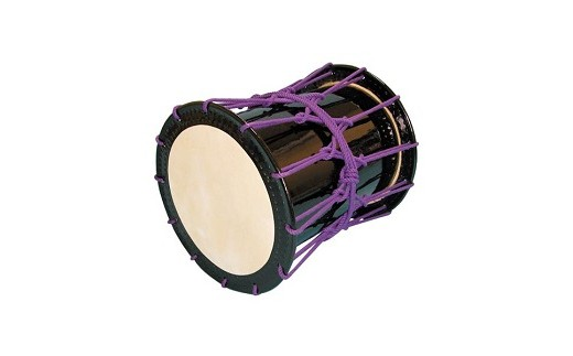 桶胴太鼓1.6尺(紫紐)【本体】面480㎜ 胴長520㎜