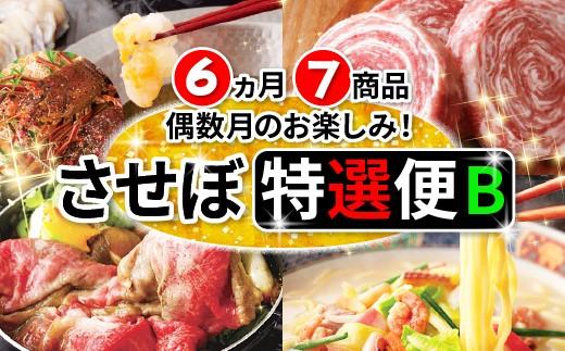 Z102 [定期便] させぼ特選便2019B 6ヵ月(7品)送付 【6,000pt】