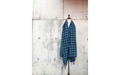 [№5656-0461]ito to iro 手染め・手織り仕上「ストール」メリノウール100% タータンチェックストール②