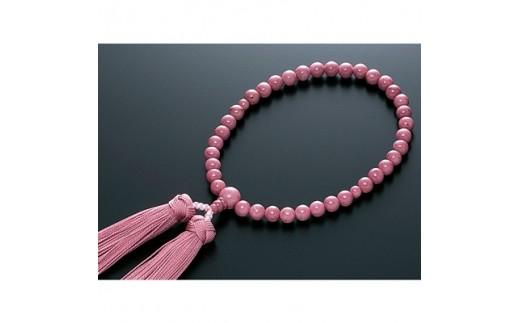 数珠 女性用 薔薇貴石 《ロードナイト》 共仕立 正絹房 桐箱入【1033393】