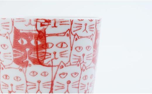 CD07 【波佐見焼】かるがる♪マグカップペアセットCats(キャッツ)【勲山製陶】-7