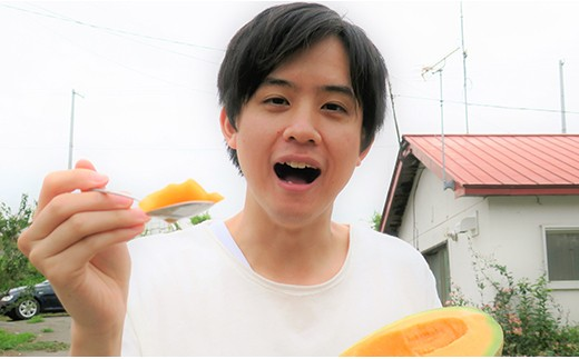 【先行予約】500玉限定!極上の甘み!北海道産日原メロン2玉(レッド種)