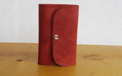 [№5842-7061]0129ミドル財布(ホールドあり) サーモン