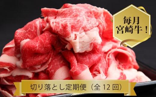 【定期便】宮崎牛切り落としコース  30-1109