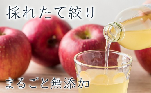 北上産りんご果汁100% 無添加りんごジュース(8本)
