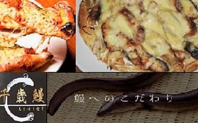 鹿児島県大隅産 千歳鰻のチーズたっぷり鰻ピザ