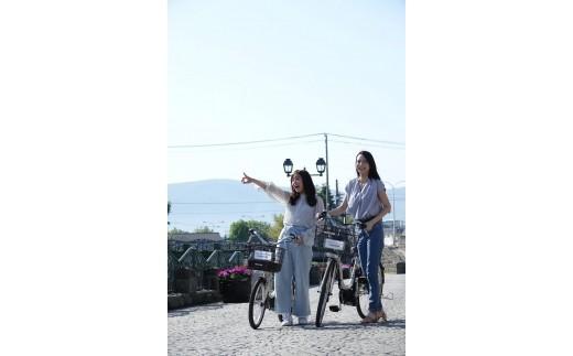 【A6501】小樽観光ガイドブック&電動アシスト自転車1日レンタル3人分
