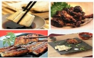 鹿児島県大隅産  千歳鰻の白焼2尾・蒲焼き2尾・焼肝セット