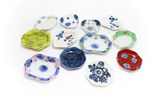TC01 【波佐見焼】縁起豆皿(花とりどり)12個セット【協立陶器】-2