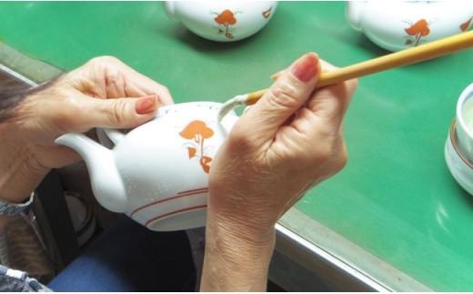 TC02 【波佐見焼】古赤絵 ポット茶器【協立陶器】-3