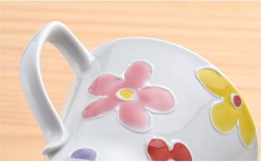 DC23 【波佐見焼】彩花ペアセット 茶碗+マグカップ ピンク・ブルー-4