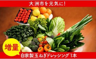 【ドレッシング増量】シェフの目線「大洲もぎたてフルーツ&旬野菜詰合せデラック」