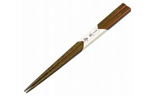 輪島塗 百寿箸(100回塗、赤)
